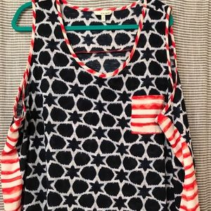 Woman's fun sleeveless top light weight fabric